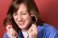 Enfermera divertida Imágenes de archivo libres de regalías