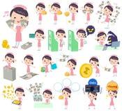 Enfermera About el dinero stock de ilustración