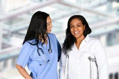 Enfermera en hospital Fotografía de archivo libre de regalías