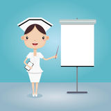 Enfermera en la presentación Imagenes de archivo