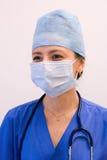 Enfermera en máscara imagen de archivo