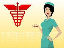 Enfermera hermosa Fotografía de archivo