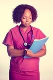 Enfermera hermosa de la mujer imagenes de archivo