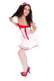 Enfermera linda feliz de los jóvenes Imagenes de archivo