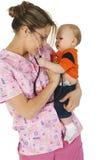 Enfermera pediátrica Imágenes de archivo libres de regalías