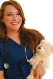 Enfermera pediátrica sonriente imagen de archivo libre de regalías