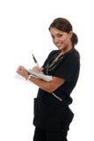 Enfermera que hace redondos imagen de archivo