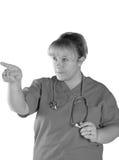 Enfermera que toma la carga Fotografía de archivo libre de regalías