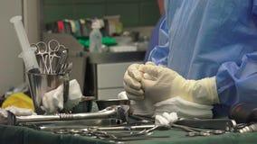 Enfermera quirúrgica almacen de metraje de vídeo
