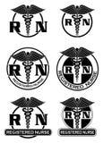 Enfermera registradoa Designs Graphic Style Imagenes de archivo