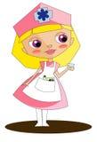 Enfermera rosada Fotografía de archivo