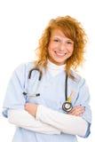 Enfermera sonriente Imagenes de archivo