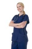 Enfermera sonriente atractiva Imagen de archivo libre de regalías