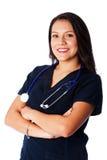 Enfermera sonriente feliz Fotos de archivo