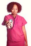 Enfermera Woman del estetoscopio fotos de archivo libres de regalías