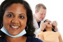 Enfermera y dentista Fotografía de archivo libre de regalías