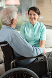 Enfermera y el paciente Imagen de archivo