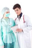 Enfermera y médico Fotos de archivo libres de regalías