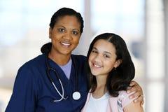 Enfermera y paciente Fotos de archivo