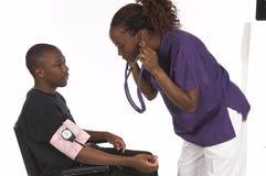 Enfermera y paciente Fotos de archivo libres de regalías
