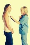 Enfermera y paciente foto de archivo libre de regalías