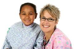 Enfermera y paciente Imágenes de archivo libres de regalías