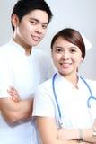 Enfermeras en blanco Imagen de archivo libre de regalías