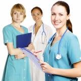 Enfermeras o doctores de la hembra del árbol Fotografía de archivo
