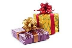 Enfermez dans une boîte pour le cadeau trois Photo libre de droits