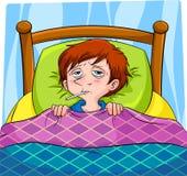 Enfermo stock de ilustración