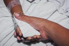 Enfermo del niño pequeño del vintage Fotografía de archivo