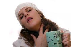 Enfermo en invierno Foto de archivo libre de regalías