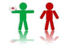 Enfermo y salud stock de ilustración