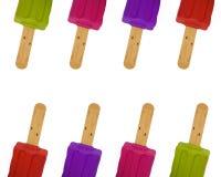Enfileira o teste padrão colorido dos picolés Foto de Stock