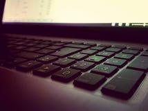 Enfoca adentro el teclado imagen de archivo