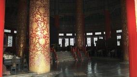 Enfoca adentro el tiro dentro del Templo del Cielo, Pekín almacen de metraje de vídeo