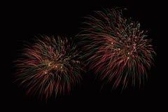 Enfoca adentro la demostración de los fuegos artificiales Imagenes de archivo