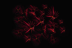 Enfoca adentro la demostración de los fuegos artificiales Fotos de archivo