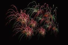 Enfoca adentro la demostración de los fuegos artificiales Imagen de archivo libre de regalías