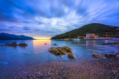Enfola strand, Elba Island, Italien arkivbild