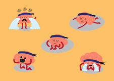 Enfoncement de cerveau illustration stock