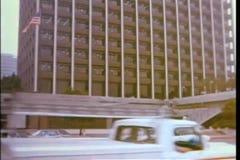 Enfoque adentro al hotel en Los Ángeles céntrico metrajes
