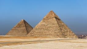 Enfoque adentro de la gran pirámide - Giza, El Cairo, Egipto almacen de video
