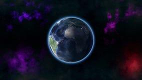 Enfoque de la tierra hacia fuera ilustración del vector
