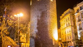 Enfoque de la torre de Galata almacen de metraje de vídeo