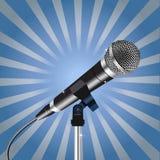 Enfoque 2 de los rayos del cordón del micrófono Imagen de archivo libre de regalías