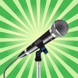 Enfoque 3 de los rayos del cordón del micrófono Imagenes de archivo