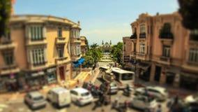 Enfoque de Mónaco del lapso de tiempo del tráfico de ciudad almacen de video