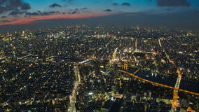 Enfoque del lapso de tiempo del paisaje urbano de Tokio almacen de metraje de vídeo