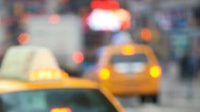 Enfoque del lapso de tiempo del tráfico de NYC almacen de video